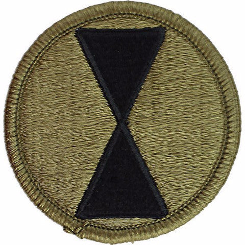 Army Patch: Seventh Infantry Division - embroidered on OCP