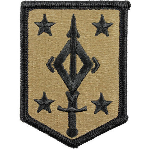 Army Patch: Fourth Maneuver Enhancement Brigade - embroidered on OCP