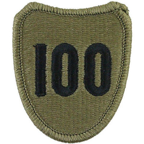Army Patch: 100th Infantry Training Division - embroidered on OCP