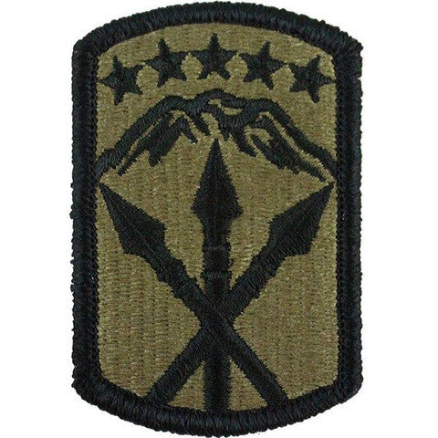 Army Patch: 593rd Sustainment Brigade - embroidered on OCP
