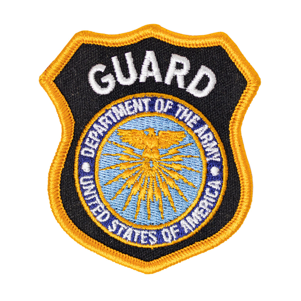 Army Cap Patch: Department of the Army Guard - Full Color embroidery