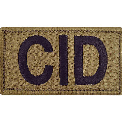 Army Patch: Criminal Investigation Division - embroidered on OCP