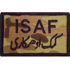 Patch: ISAF INTL SEC ASST FRCE AFGHANISTAN - embroidered on OCP