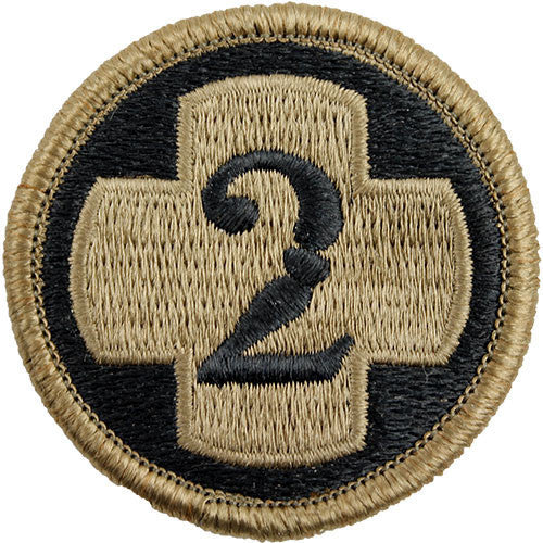 Army Patch: Second Medical Brigade - embroidered on OCP