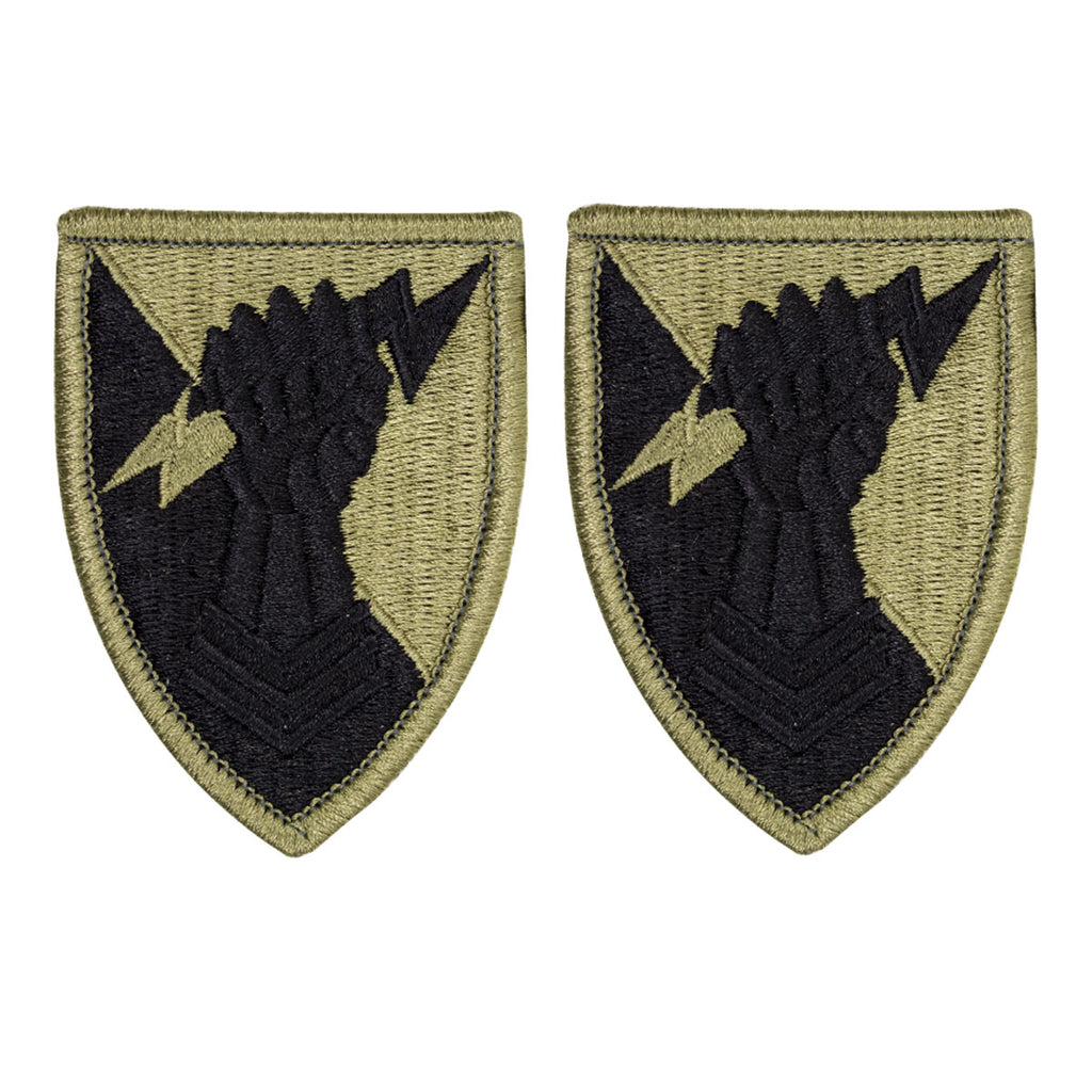 Army Patch: 38th Air Defense Artillery Brigade - embroidered on OCP with hook