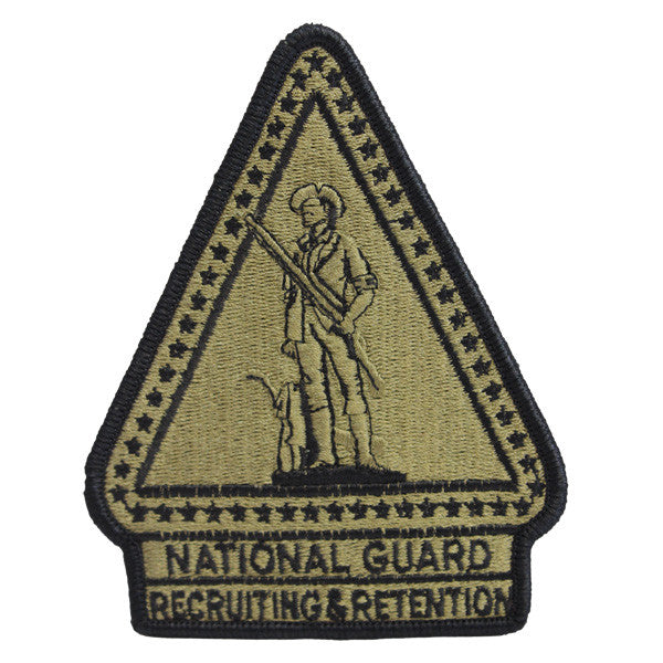 Army Patch: National Guard Recruiting Retention - embroidered on OCP