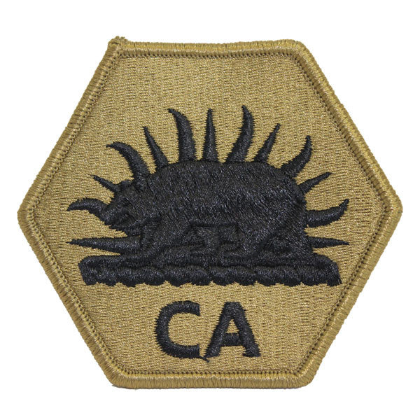 Army Patch: California National Guard CA Letters - embroidered on OCP