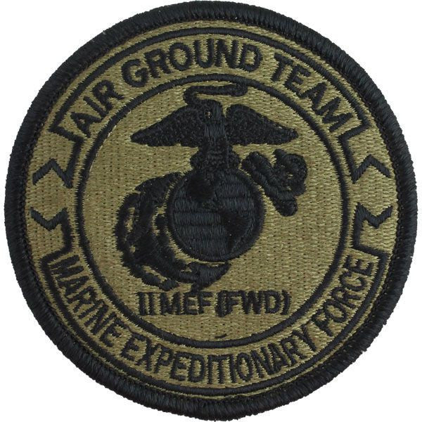 Marine Corps Patch: Second Marine Expeditionary Force Air Ground Team - Embroidered on OCP