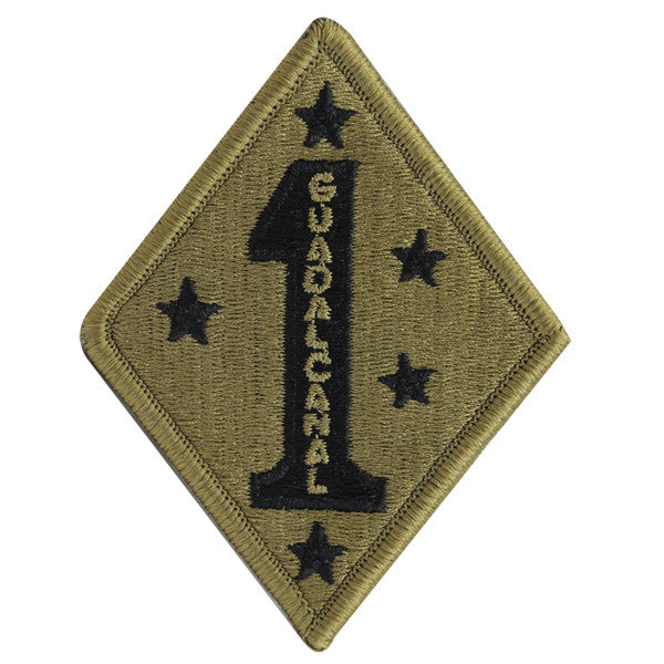 Marine Corps Patch: OCP First Division - hook closure