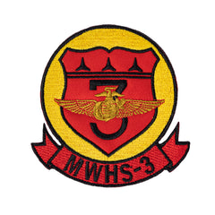 Marine Corps Patch: MWHS-3  - color with hook closure