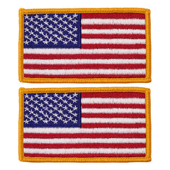Flag Patch: United States of America - 2 by 3 inches gold merrowed edge