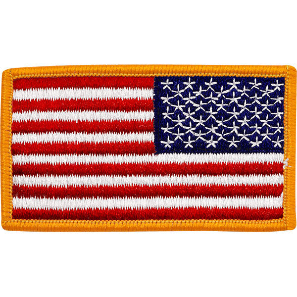 Flag Patch  United States of America - gold edges reversed 1efae17fb75