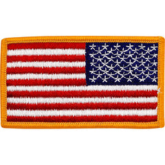 Flag Patch: United States of America - gold edges reversed