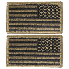 Army Flag Patch: United States of America - OCP Tactical Flag reversed with hook closure