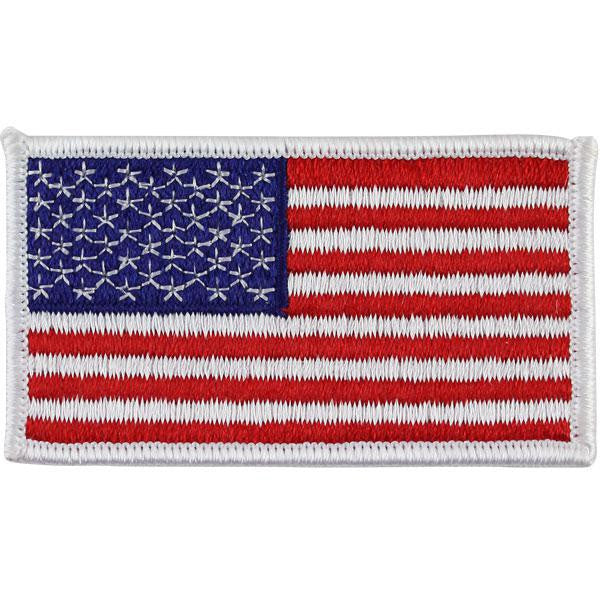 Flag Patch: United States of America - 2 by 3¼ inch with white edge