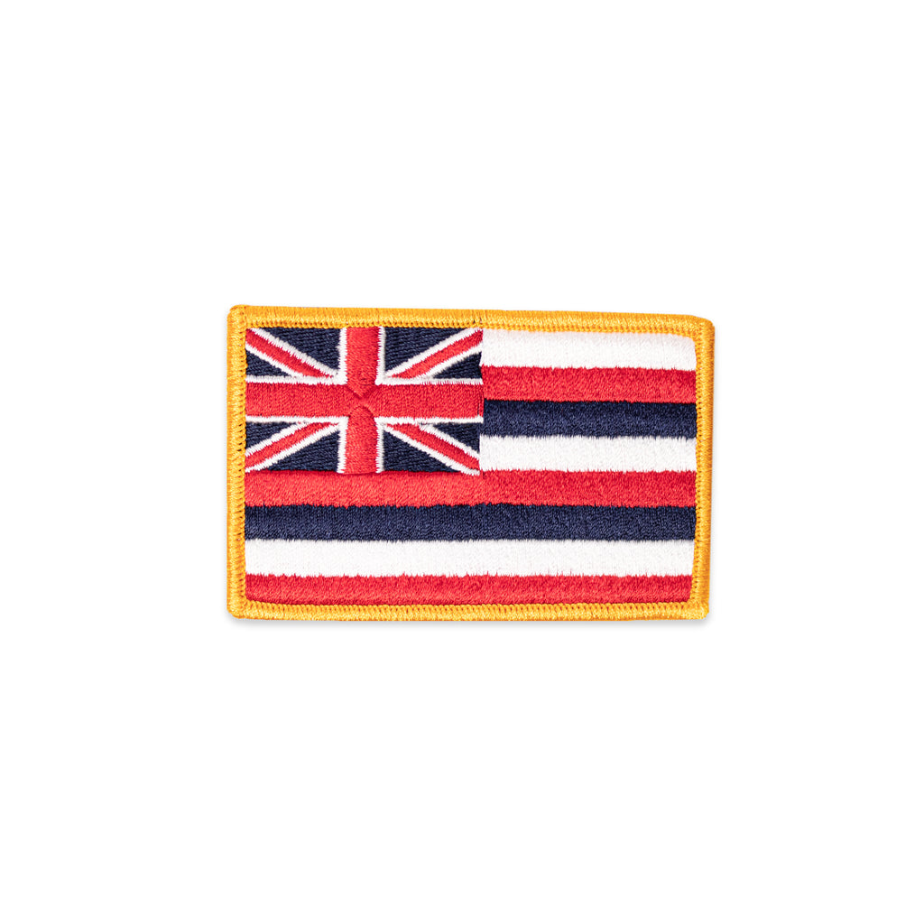Flag Patch: Hawaii State Flag - 3 1/2