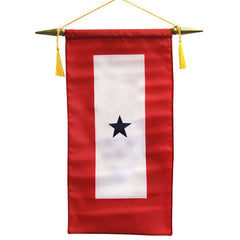 Flag: Made in USA - Service Banner with One Blue Star