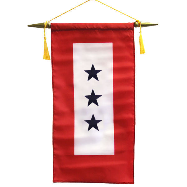 Flag: Made in USA - Service Banner with Three Blue Stars
