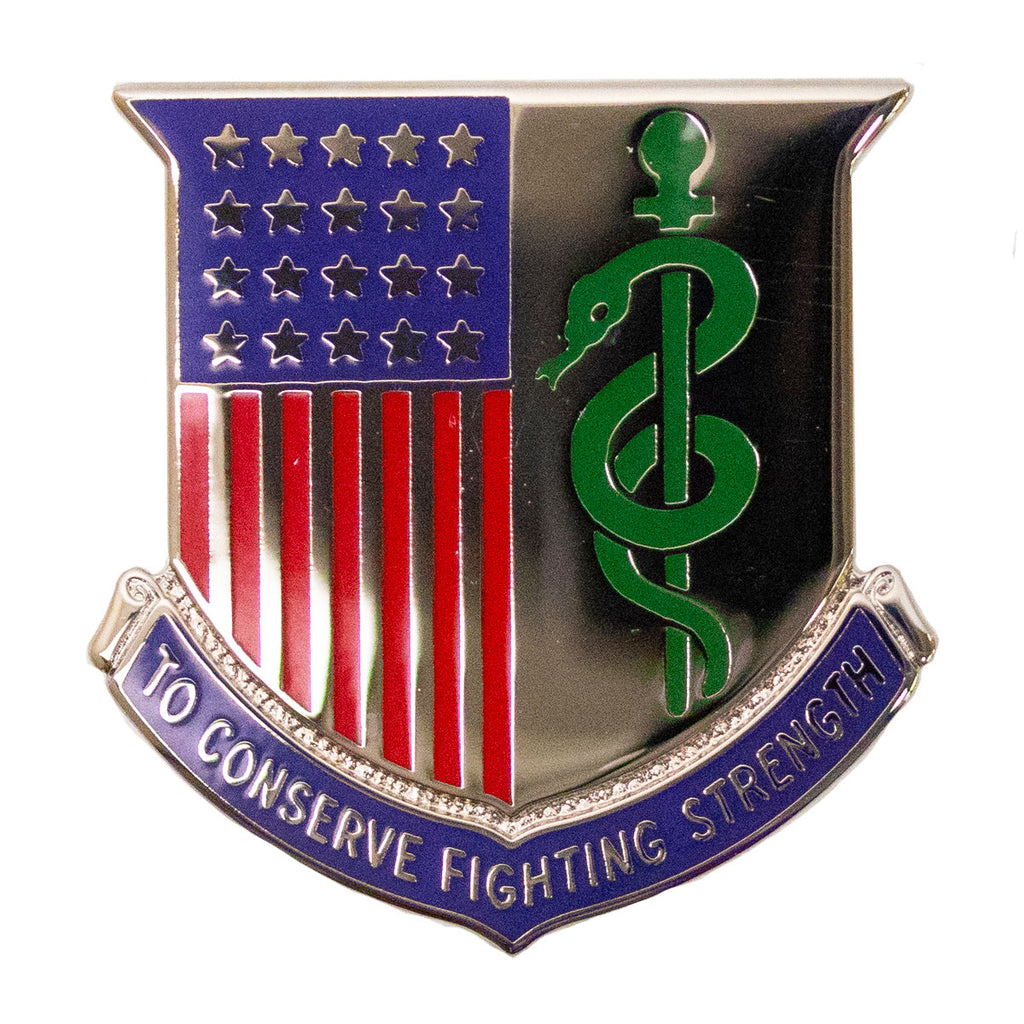 Army Corps Crest: Medical Department - To Conserve Fighting Strength