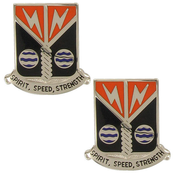Army Crest: 58th Signal Battalion - Spirit, Speed, Strength