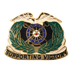 Army Corps Crest: Quartermaster - Supporting Victory