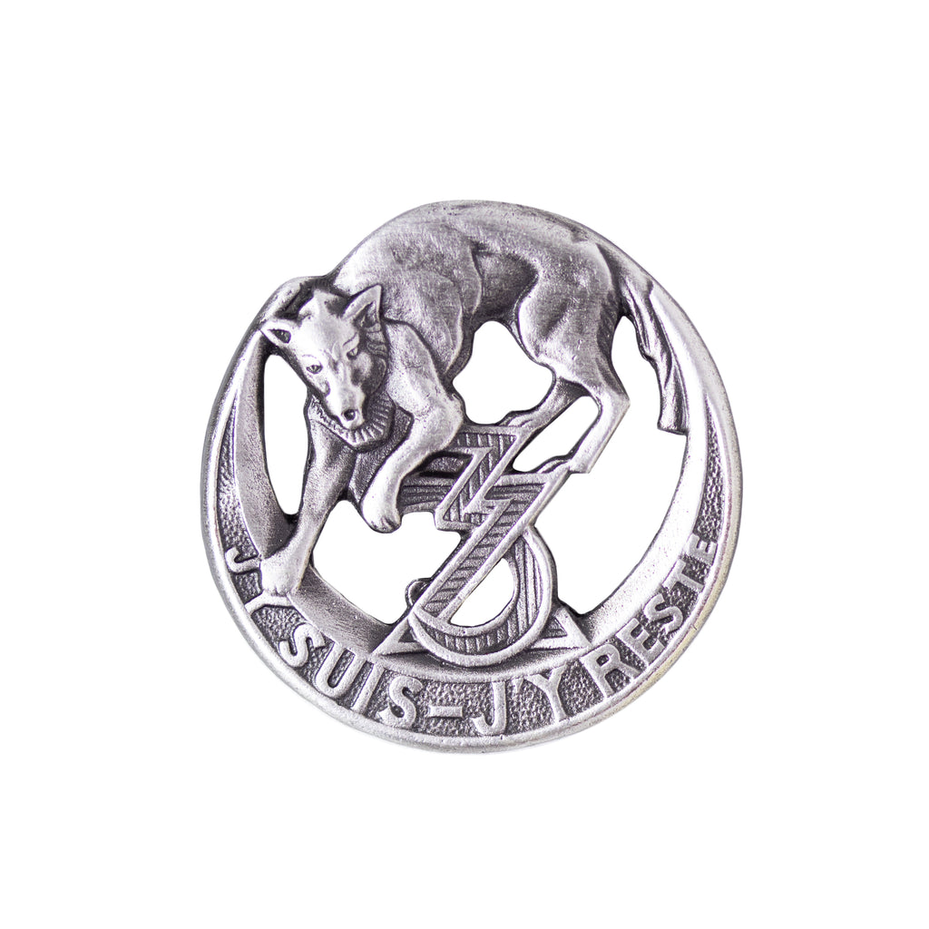 Army Badge: 3rd Zouave Badge - J'Y SUIS-J'Y RESTE - silver oxidized