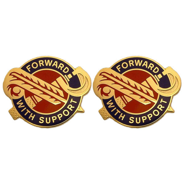 Army Crest: 194th Maintenance Battalion - Forward with Support