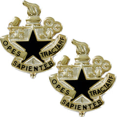 Army Crest: Logistics University - Opes Sapienter Tractare