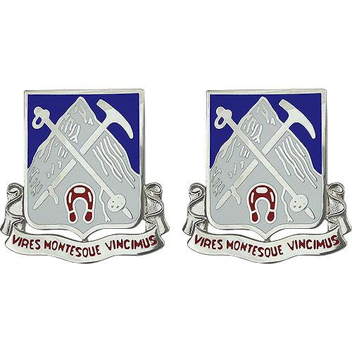 Army Crest: 87th Infantry Regiment  - Vires Montesque Vincimus