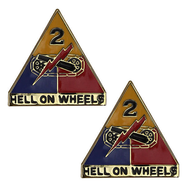 Army Crest: Second Armored Division - Hell on Wheels