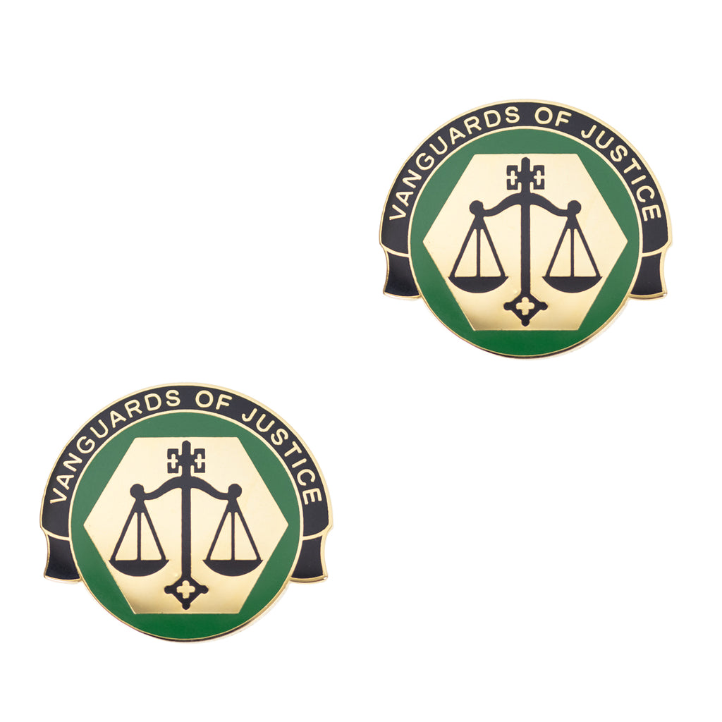 Army Crest: Corrections Command - Vanguard of Justice