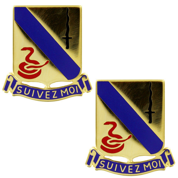 Army Crest: 14th Armored Cavalry Regiment - Suivez Moi