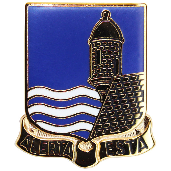 Army Crest: 296th Infantry Regiment - Alerta Esta