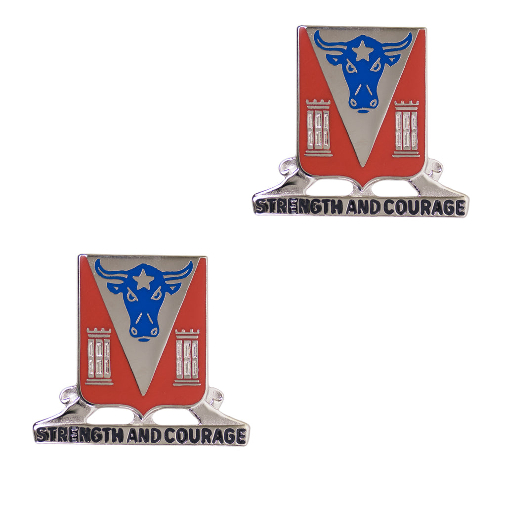 Army Crest: 82nd Engineer BN Motto: Strength and Courage