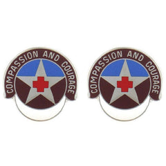 Army Crest: MEDDAC Fort Leonardwood - Compassion and Courage