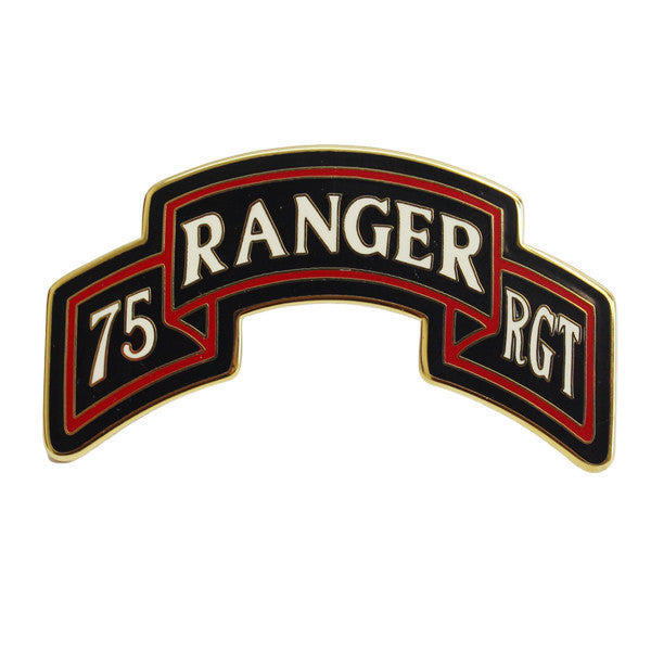 Army Combat Service Identification Badge (CSIB): 75th Ranger Regiment Scroll