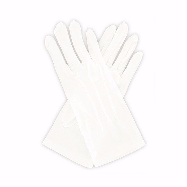 Gloves: Pull-On Gloves - white cotton