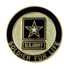Army Lapel Pin: Soldier for Life, Veteran