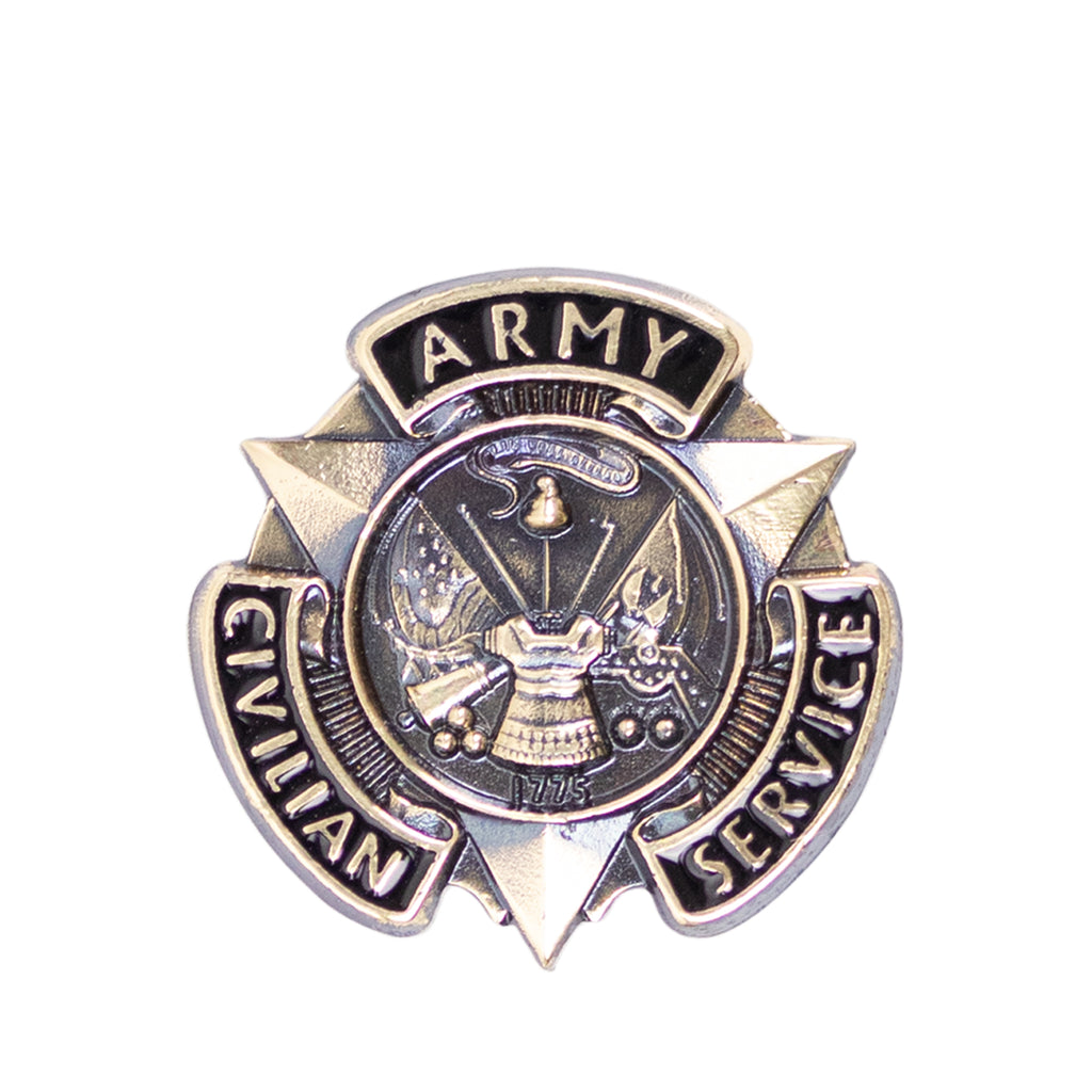Army Lapel Pin: Civilian Service Bronze