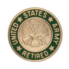 Army Lapel Pin: US. Army Retired 1968-2007