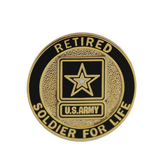 Army Lapel Pin: Soldier for Life, Retired