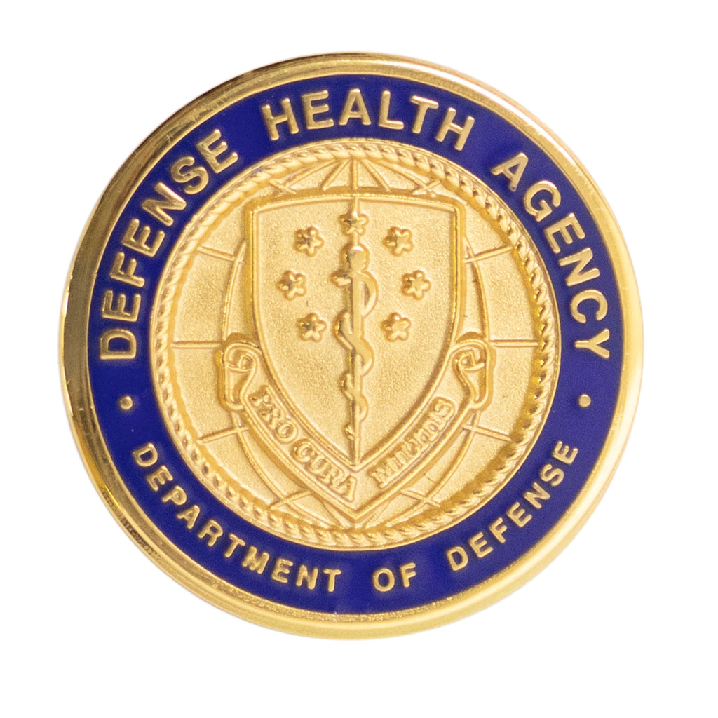 Id Lapel Button Defense Health Agency Pro Cura Militis Vanguard