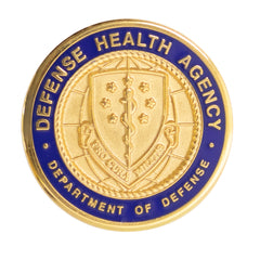 ID lapel button: Defense Health Agency - Pro Cura Militis