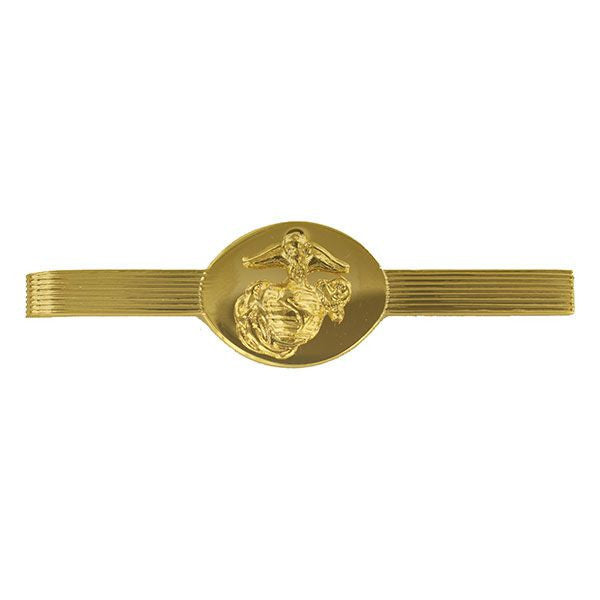 Marine Corps Tie Clasp: Enlisted - 24K Gold Plated
