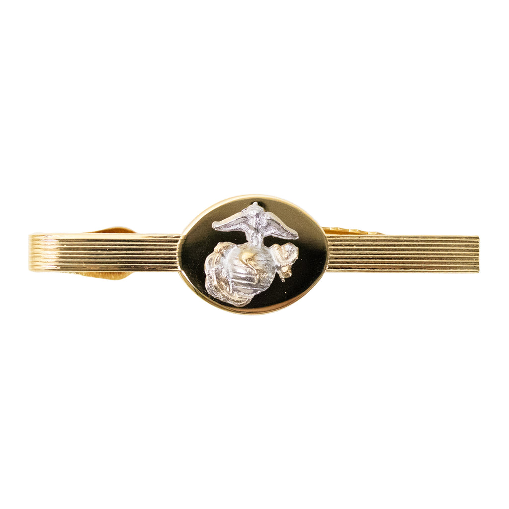 Marine Corps Tie Clasp: Officer - 24K Gold Plated