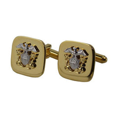 Navy Cuff Links: Officer - gold