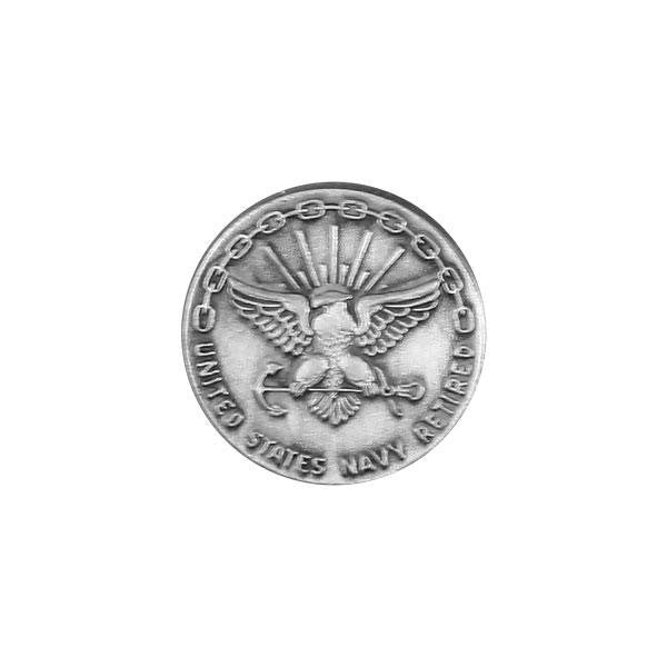 Navy Lapel Pin: Retired 20 Year - silver