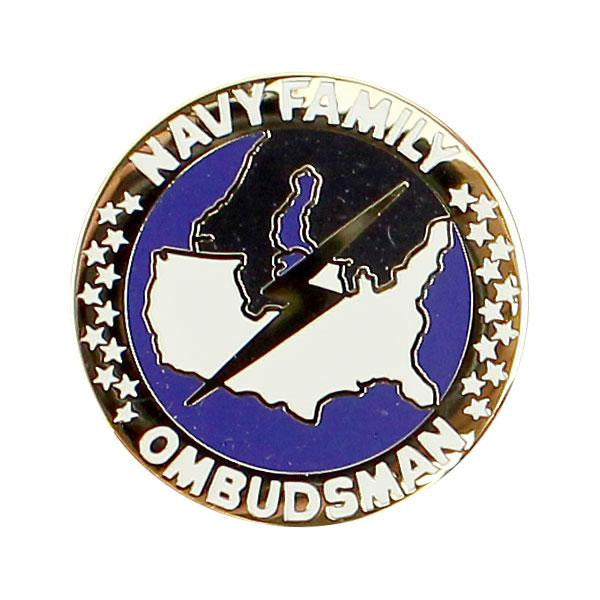 Navy Lapel Pin: Ombudsman