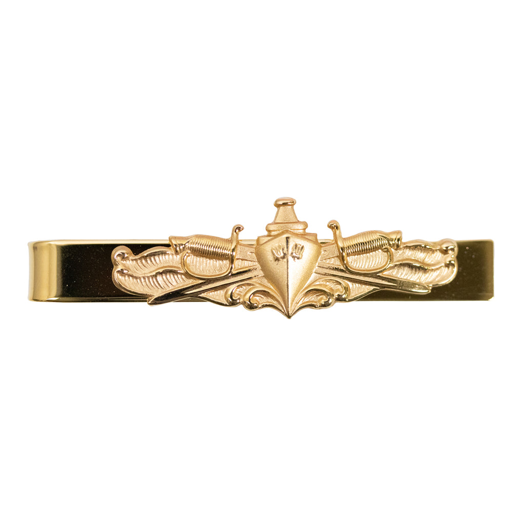 Navy Tie Clasp: Officer with Surface Warfare Insignia
