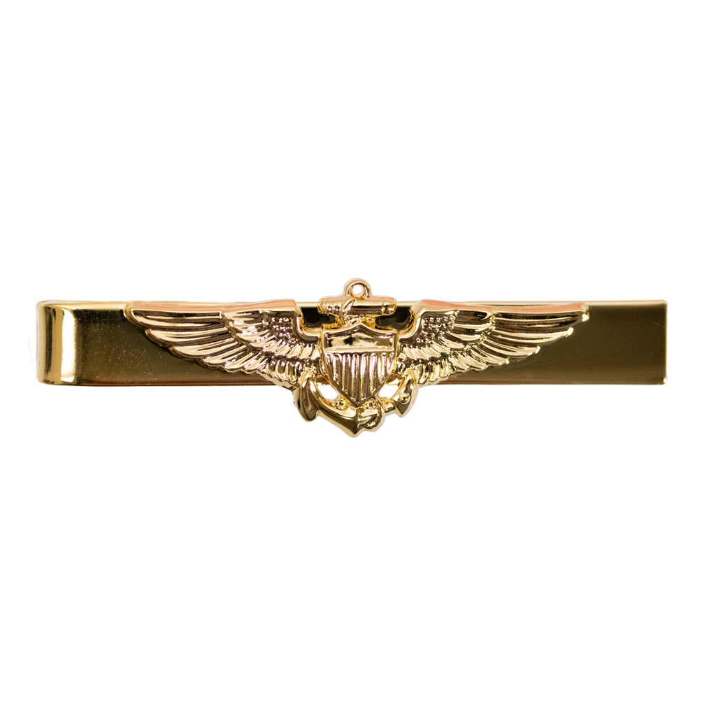 Navy Tie Bar: Aviator